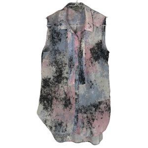 2/$20 H&M Sleeveless Blouse Pink Blue Black 2